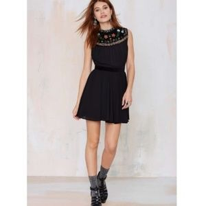 Nasty Gal Valencia black dress, sz XXS
